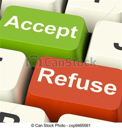 Acceptance Letter Clipart Clipart Of Accept And Refuse Showing Acceptance Or Accept Csp9465561 Search