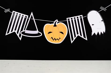 cute  printable paper halloween garland