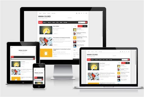 new minima colored blogger template 2015 free themes new minima colored responsive blogger templates