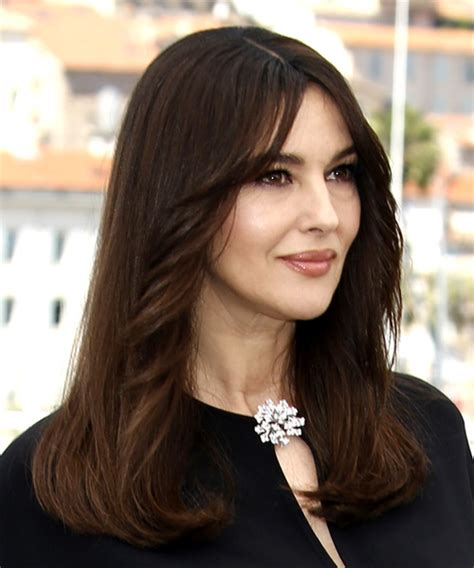 monica bellucci face shape long hairstyle in 2017 thehairstyler