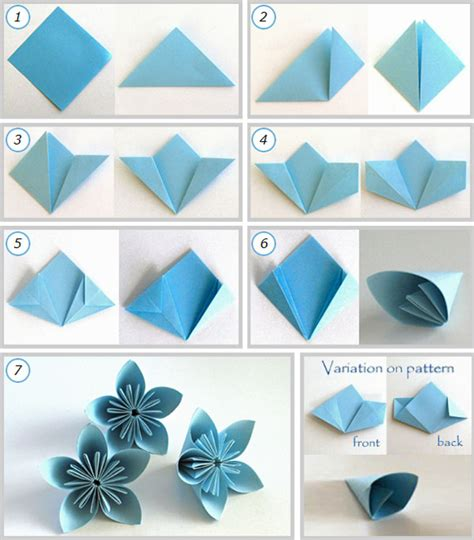 cara membuat bunga kertas warna kreasi kerajinan dari kertas origami dan sejarahnya