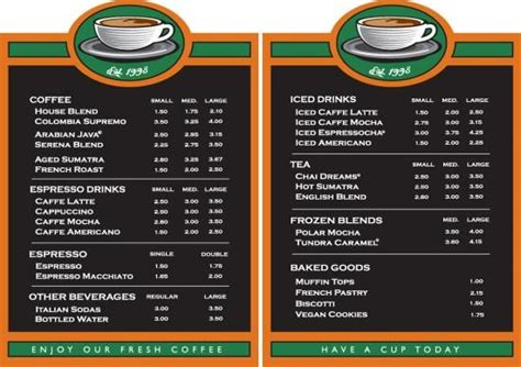 Home Menu Board Design Coffee House Menu Board Coffee Menu Boards On Air
