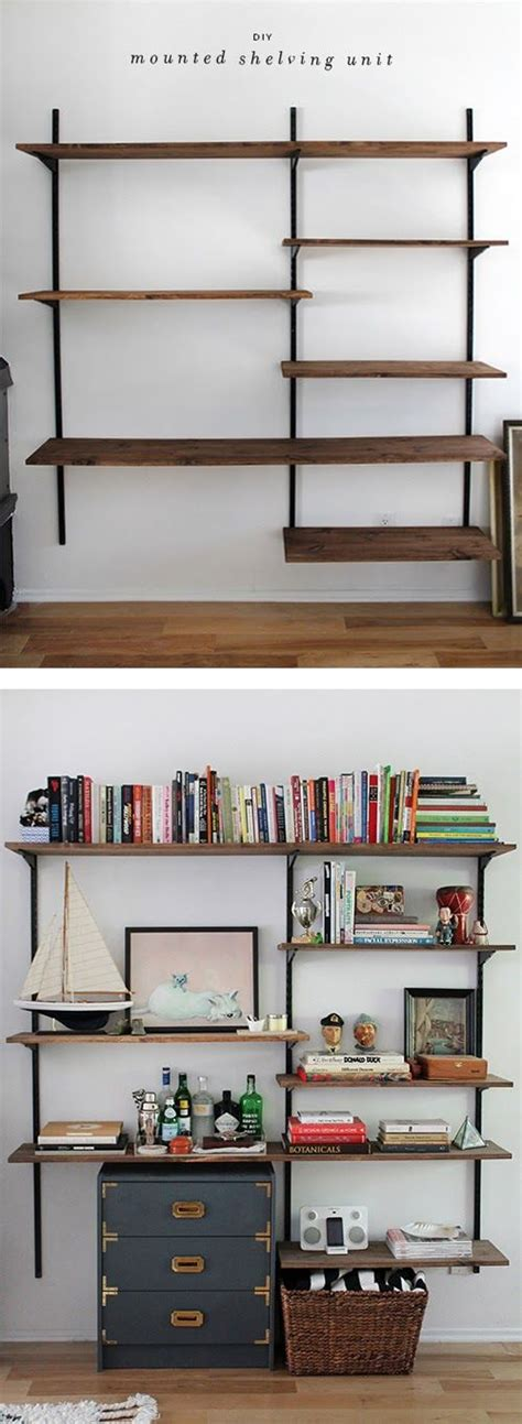 wall mount book shelves building wall mounted shelves woodworking projects plans