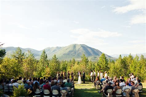 Wedding Venues Montana by Tyson Rustic Glacier Park Weddings