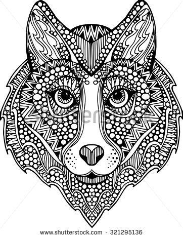 Wolf Zentangle Outline by 52 Best Images About Mandalas On Johanna Basford Coloring Book Dovers And Coloring