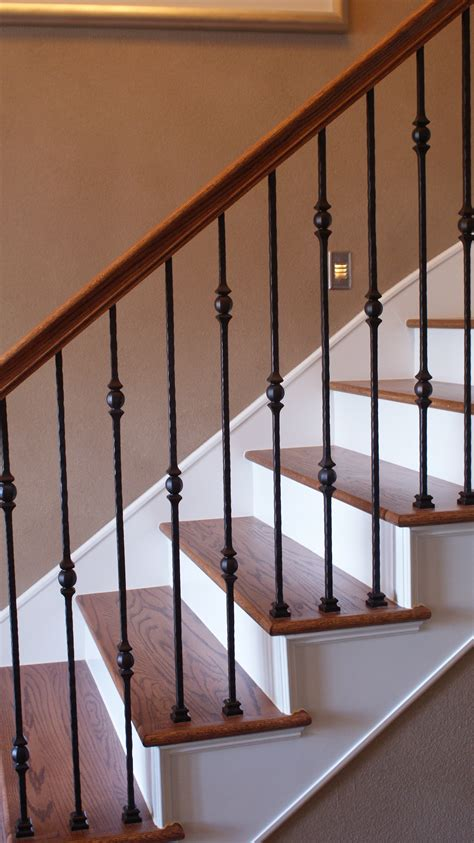 decor wooden stairs design ideas with wrought iron