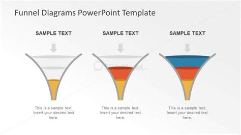 Funnel Tube Design Channeling Diagram Slidemodel Funnel Diagram Powerpoint Template