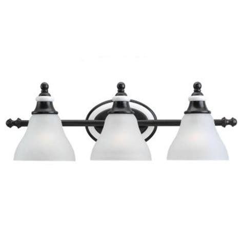 Discontinued Light Fixtures Sea Gull Lighting Brixham 3 Light Rustic Bronze With Ceramic Style Inlay Vanity Fixture
