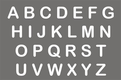 alphabet reusable stencils    letters  sizes