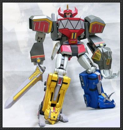 Megazord Papercraft - new paper craft power rangers transformable megazord