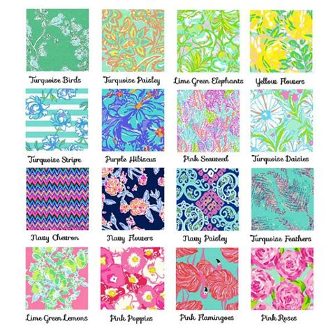 lilly pulitzer flower pattern name custom painted lilly print sorority monogram letters