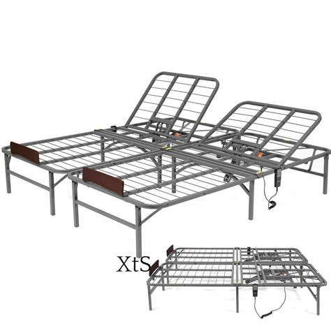 electric adjustable bed frame hospital metal remote faux sleep number fold queen ebay