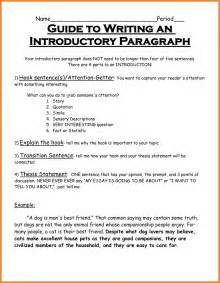A Introduction For An Essay About Yourself by Intro Paragraph Exles Sop