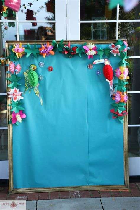 photo themed party a fabulous tropical backdrop perfect for a moana birthday