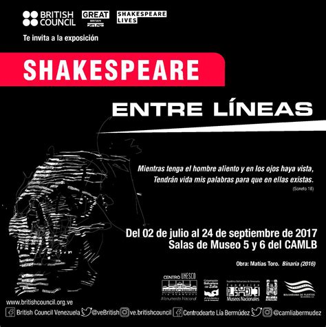 muerte entre lneas spanish b00io3za8m exposici 243 n shakespeare entre l 237 neas llega a maracaibo british council