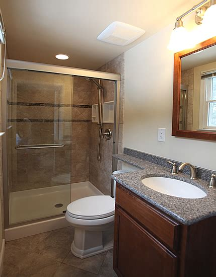 small bathroom remodel with shower small bathroom remodeling fairfax burke manassas remodel