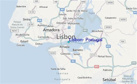 where is portugal located on the world map lisbon portugal tide station location guide
