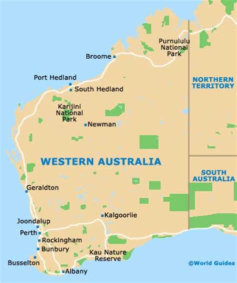 map western australia australia map perth