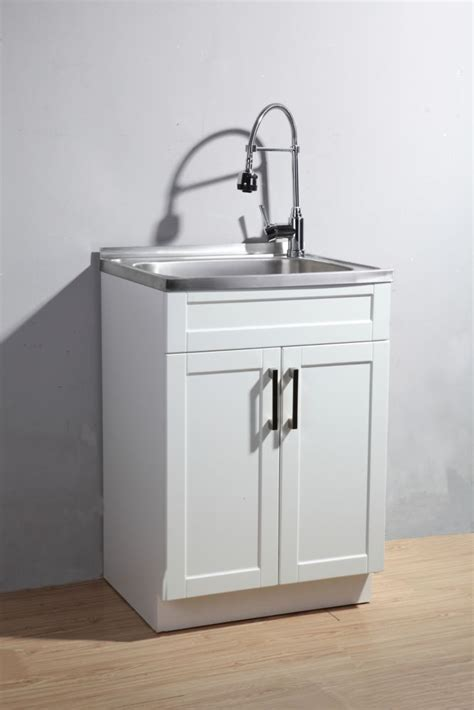 glacier bay utility laundry sink with cabinet the home