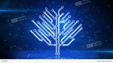 blue circuit board electronic hi tech growing tree stock