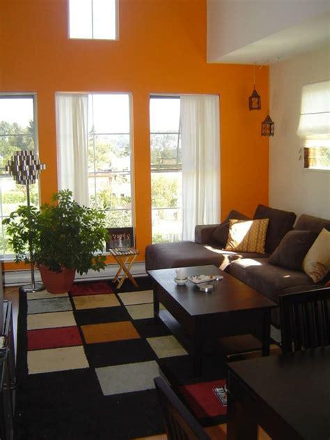 farbgestaltung im wohnzimmer moderne orange farbgestaltung im wohnzimmer archzine net