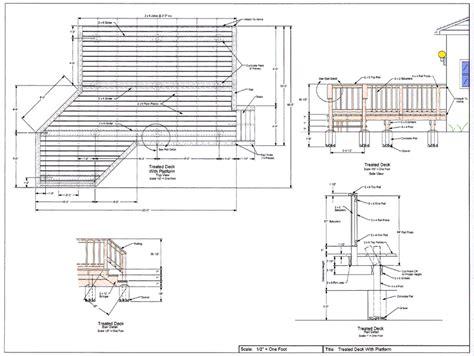 wood deck layout cad pro