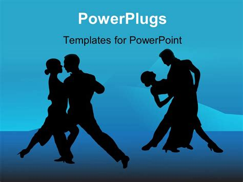 ppt themes dance powerpoint template a pair of dancers silhouette on a
