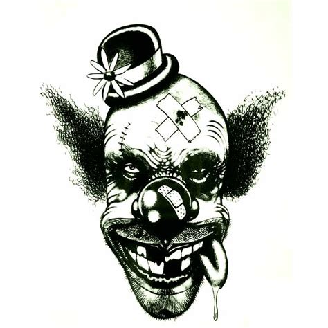 tatouage ephemere t 234 te de clown tempo tattoo