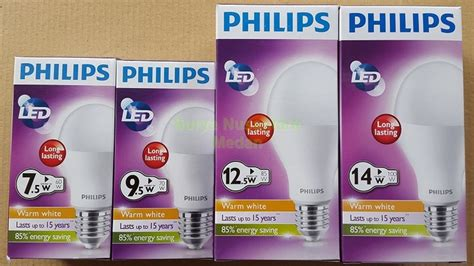 Lu Led Kuning Philips 125 Watt jual bohlam bola lu led ledbulb philips 12 5w kuning