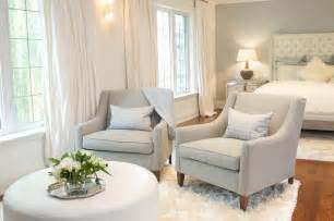 sitting chairs for bedroom bedroom sitting area with gray chairs and white ottoman transitional bedroom