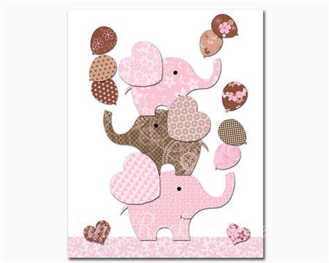 pink and brown nursery wall decor nursery elephant baby room wall decor pink brown baby
