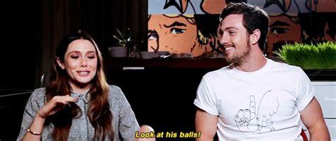 aaron taylor johnson how tall elizabeth olsen red balls aaron taylor johnson