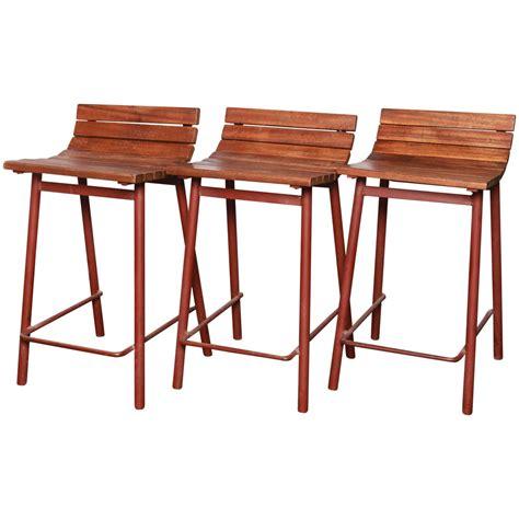 set of three counter height vista bar stools at 1stdibs