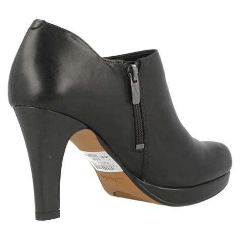 boot and shoe clarks leather boot shoes with high heel and