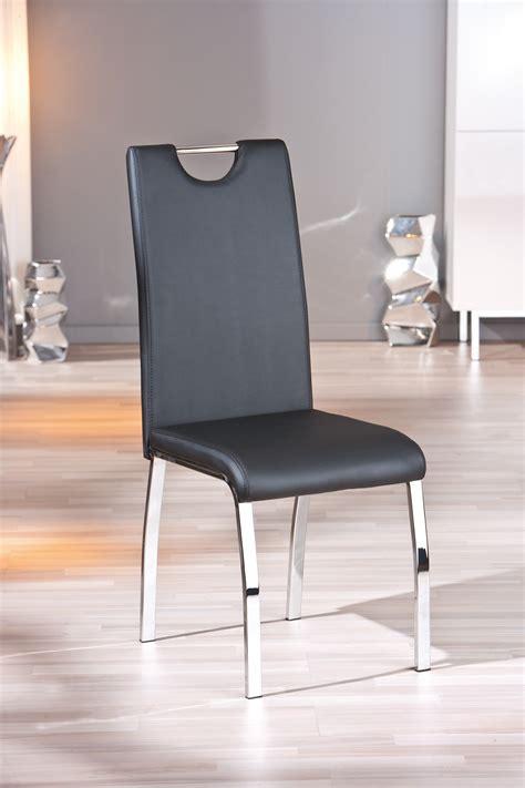 chaises salle à manger design chaise design de salle 224 manger coloris noir lot de 2