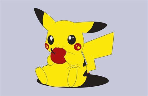 pokemon pikachu game pokemon pikachu and apple vector game