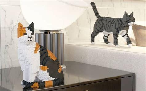 life sized cat legos      feline lovers