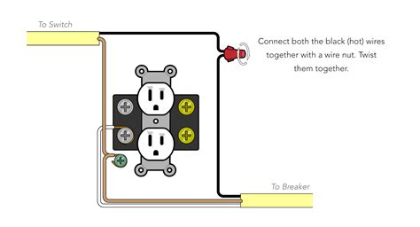 wiring an outlet white black wiring diagram