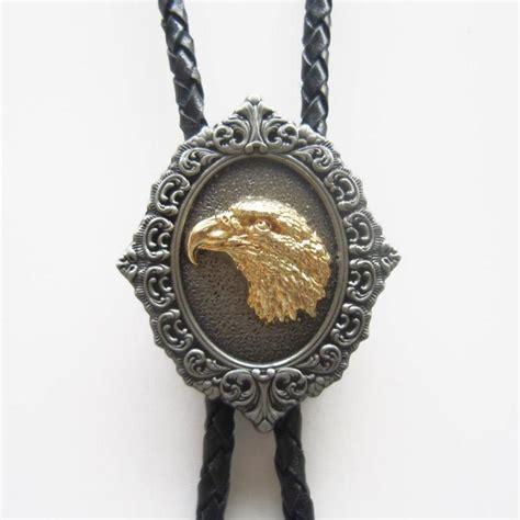 western style american bolo tie antique silver