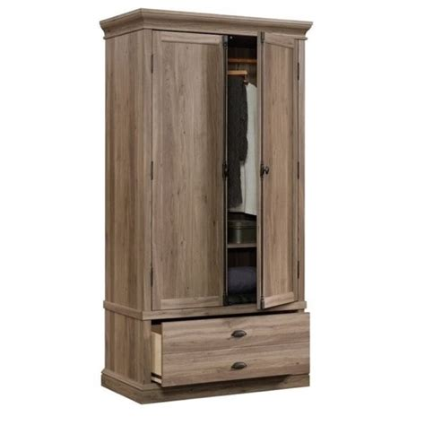 pemberly row bedroom armoire in salt oak pr 657452