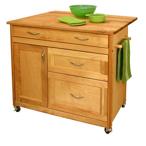 kitchen island cart with drawers drop leaf