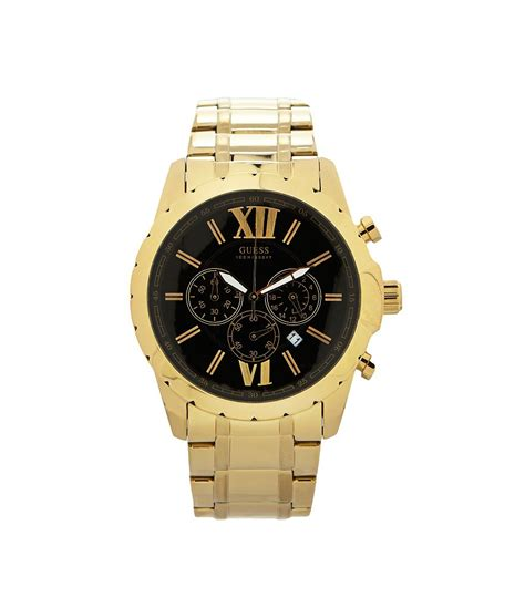 guess s goldtone chronograph dillards