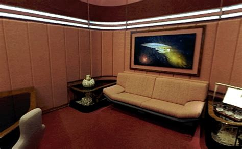 ready room trek tng painting in picard s ready room