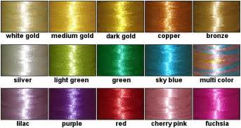 metalic color threadelight metallic embroidery thread kit 15 colors