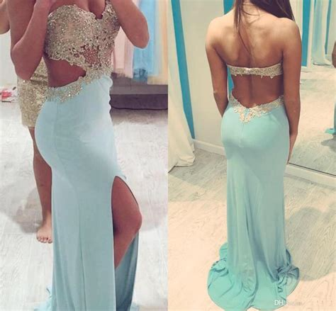 strapless gown with cutout sides by 2016 prom dresses with slit side cut out sweetheart