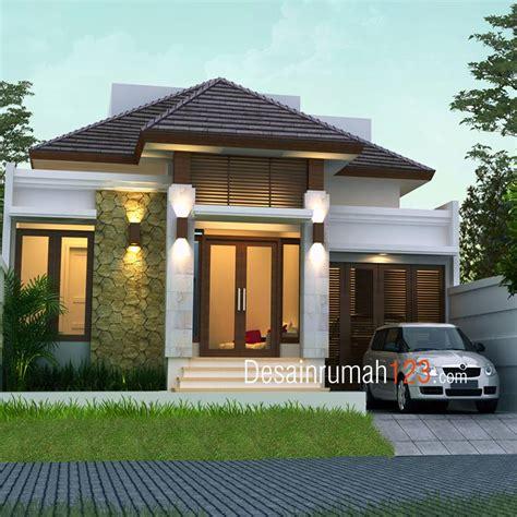 desain rumah 10 x 20 desain rumah 1 lantai bergaya tropis di lahan 10 x 20 m2