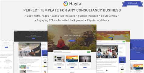 Hayla Consultancy Business Website Template By Salttechno Themeforest Software Consulting Company Website Template