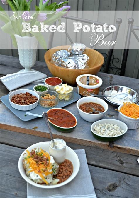 baked potato toppings bar best 25 baked potato bar ideas on pinterest potato bar