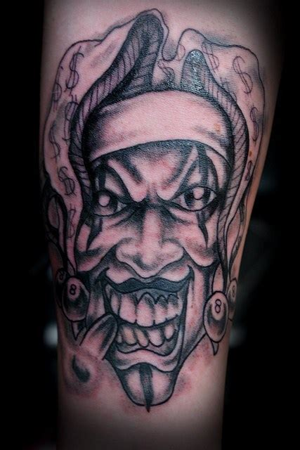 51 scary clown tattoo designs for bad boys amp girls picsmine