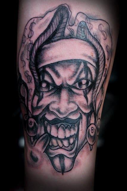 tattoo joker clown 51 scary clown tattoo designs for bad boys girls picsmine